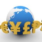 世界の通貨の図